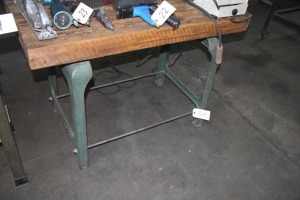 "23"" X 46"" TABLE WITH BENCHMASTER CAST LEGS"