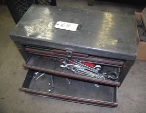 TOOL BOX WITH ASSORTED HAND TOOLS