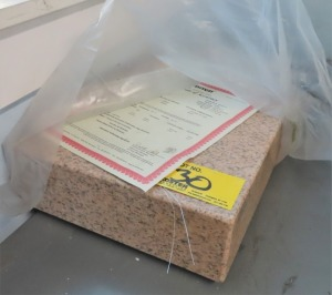 "18"" X 12"" X 4"" STARRETT PINK GRANITE SURFACE PLATE"