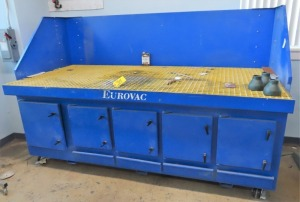 "EUROVAC MDL. DDT-4X8-F4603000 8' X 44"" DOWN DRAFT TABLE"