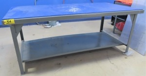 "[2] 42"" X 84"" STEEL TABLE (NO CONTENTS)"