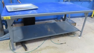 "42"" X 84"" STEEL TABLE (NO CONTENTS)"
