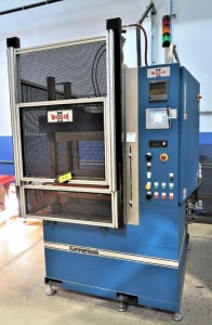 WABASH MDL. G100H-18-BCX 100 TON CAPACITY 4-POST HEATED PLATEN HYDRAULIC PRESS