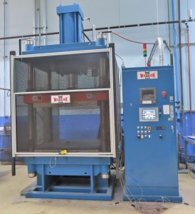 WABASH MDL. DA250H-48-BCX 250 TON CAPACITY 4-POST HEATED PLATEN HYDRAULIC PRESS