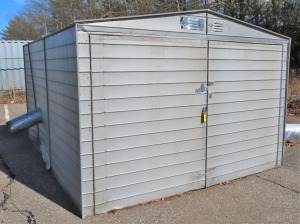 "10' WIDE X 84"" HIGH X 12' LONG SHED"